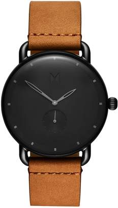 MVMT Revolver Wilde Leather Strap Watch, 41mm