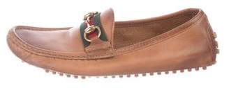 Gucci Leather Horsebit Driving Loafers