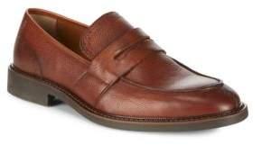Black & Brown Black Brown Textured Penny Loafers