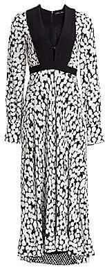 Proenza Schouler Women's Crepe de Chine Dotted Midi Dress - Size 0