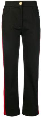 Balmain side stripe trousers