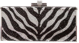 Judith Leiber Crystal Embellished Box Clutch $400 thestylecure.com
