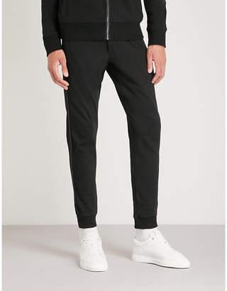 Michael Kors Leather-trim stretch-cotton jogging bottoms