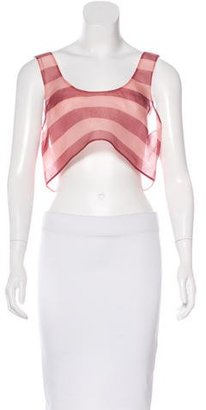 La Perla Silk Crop Top $85 thestylecure.com