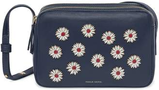 Mansur Gavriel Floral Embellished Lamb Double Zip Crossbody