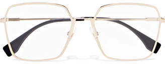 Fendi Square-frame Gold-tone Optical Glasses
