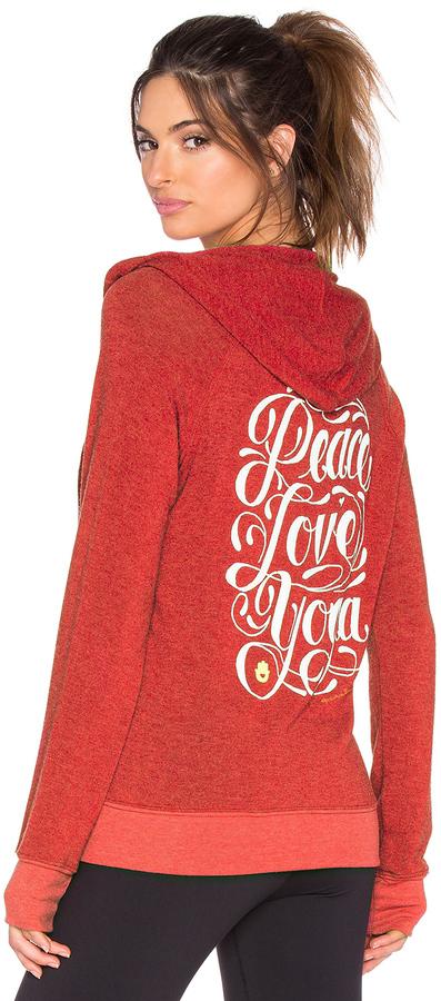 Spiritual Gangster Peace Love Yoga Flourish Savasana Beach Hoodie