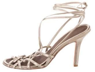 BCBGMAXAZRIA Metallic Multistrap Sandals