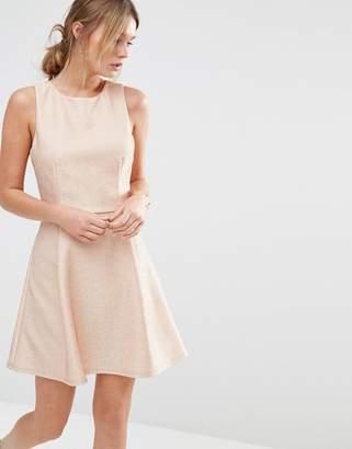 Oasis Metallic Skater Dress $91 thestylecure.com