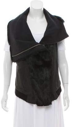 Helmut Lang Contrasted Fur-Trimmed Vest