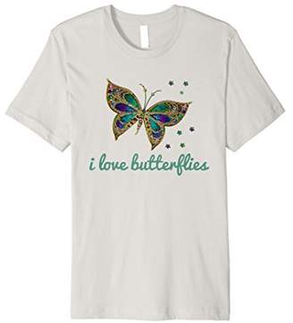 Beautiful I Love Butterflies T Shirt Butterfly Shirt Gift