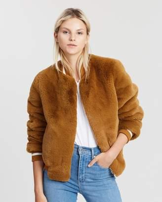 Essential Faux Fur Bomber Jacket