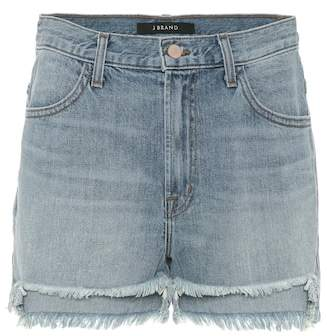 J Brand Joan high-waisted denim shorts