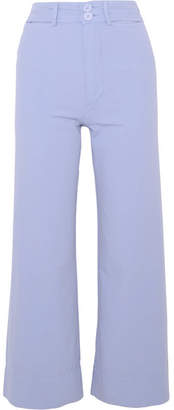 Apiece Apart Merida Cropped Cotton-canvas Wide-leg Pants - Lilac