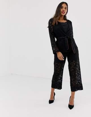 Vila lace suit trousers
