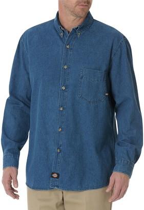 Dickies Big & Tall Denim Button-Down Shirt