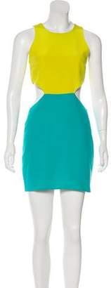 Naven Sleeveless Silk Mini Dress