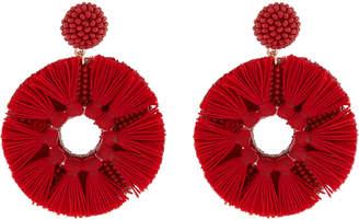 Accessorize Tassel Wheel Statement Earrings