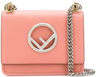 Fendi pink kan I F small leather shoulder bag