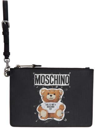Moschino Black Teddy Bear Pouch
