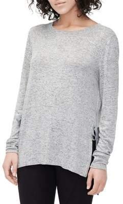UGG Quincy Heathered Terry Side-Tie Pajama Top