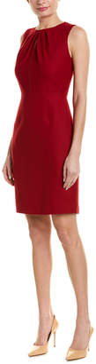 Elie Tahari Wool-Blend Sheath Dress