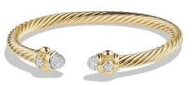 David Yurman Renaissance Bracelet with Diamonds in 18K Gold