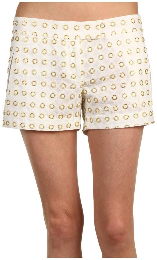 L.A.M.B. Gold Beaded Short (Ivory) - Apparel