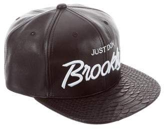 Just Don Brooklyn Python-Trimmed Hat w/ Tags