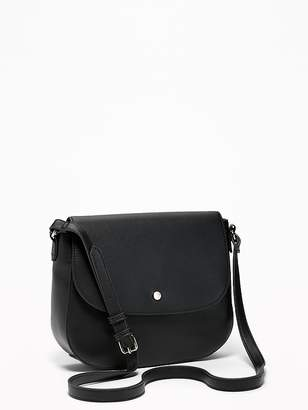 Old Navy Faux-Leather Saddle Bag for Women