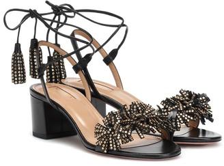 Aquazzura Wild 50 embellished leather sandals