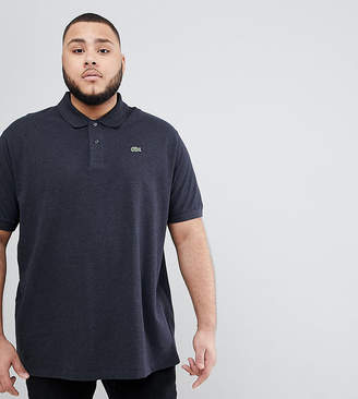 Lacoste Big fit logo polo shirt in charcoal
