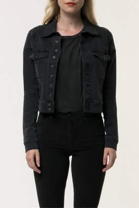 Neon Blonde Snap Crop Jacket