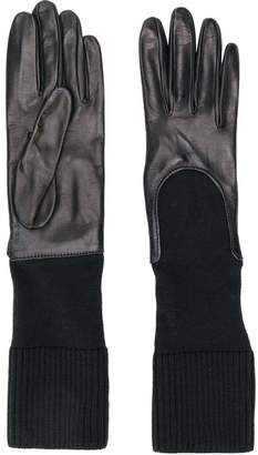 Gala knitted cuff gloves