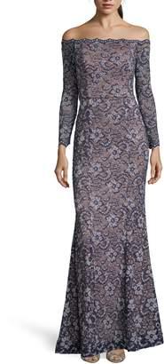 Xscape Evenings Off the Shoulder Lace Evening Dress