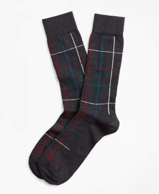 Brooks Brothers Plaid Crew Socks