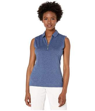 Callaway 1/4 Zip Heather Sleeveless Polo