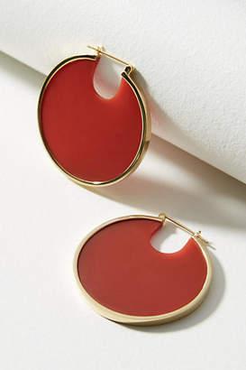 Anthropologie Solar Eclipse Hoop Earrings