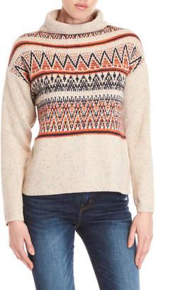 Cliche Speckled Mock Neck Sweater