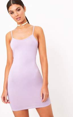 PrettyLittleThing Lilac Basic Strappy Bodycon Dress