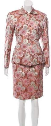 Christian Dior Embroidered Skirt Suit