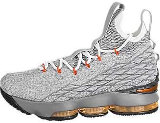 Nike Youth Lebron 15 Boys Basketball Shoes Black/Safety Orange/Wolf Grey 922811-080 Size 6.5