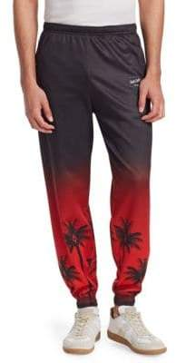 Marcelo Burlon County of Milan Palm Tree Cotton Pants