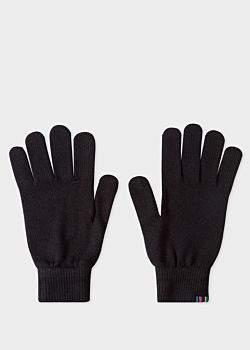 Men's Black Lambswool Gloves