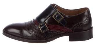 Etro Leather Double Monk Strap Shoes