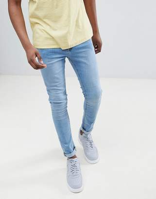 LDN DNM Spray On Jeans in Mid Wash