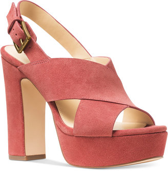 MICHAEL Michael Kors Mariana Slingback Platform Sandals $150 thestylecure.com