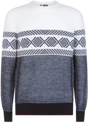 Ermenegildo Zegna Geometric Jacquard Sweater
