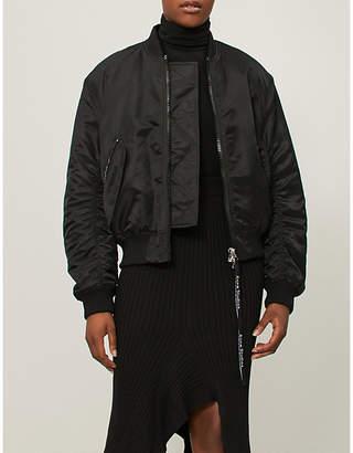 Acne Studios Logo zip shell bomber jacket