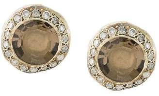 Rosa Maria smokey quartz and diamond studs